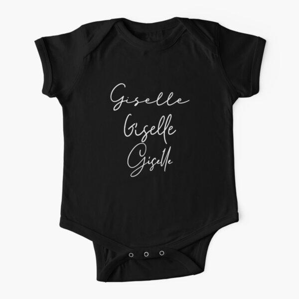 Giselle Fashion Typo Girly Name Short Sleeve Baby One-Piece