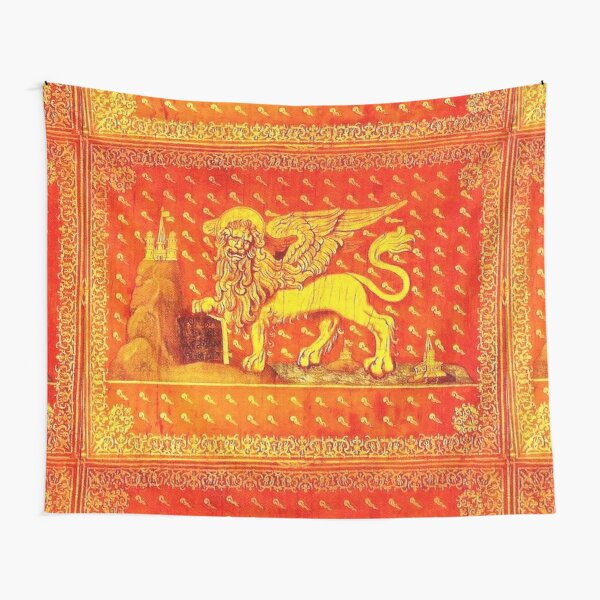 VENICE. Flag of Republic of Venice. (Detail). Tapestry