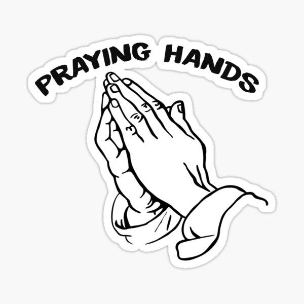 Manos orando Pegatina