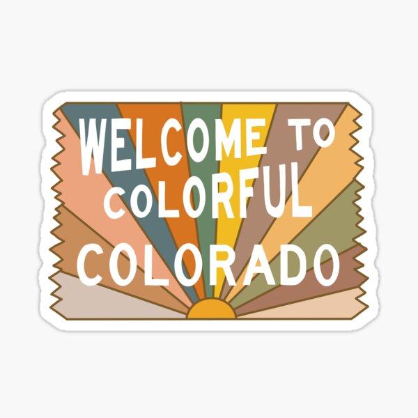 Welcome to Colorful Colorado Sticker