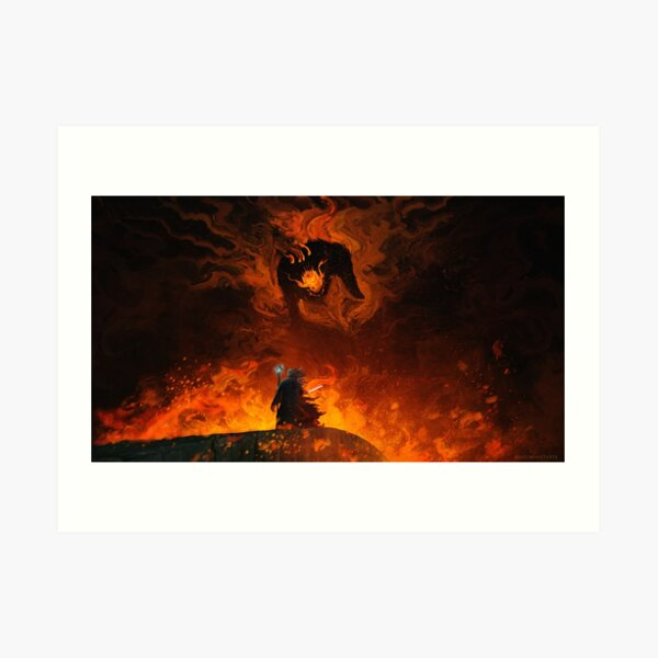The Shadow and the Flame Art Print