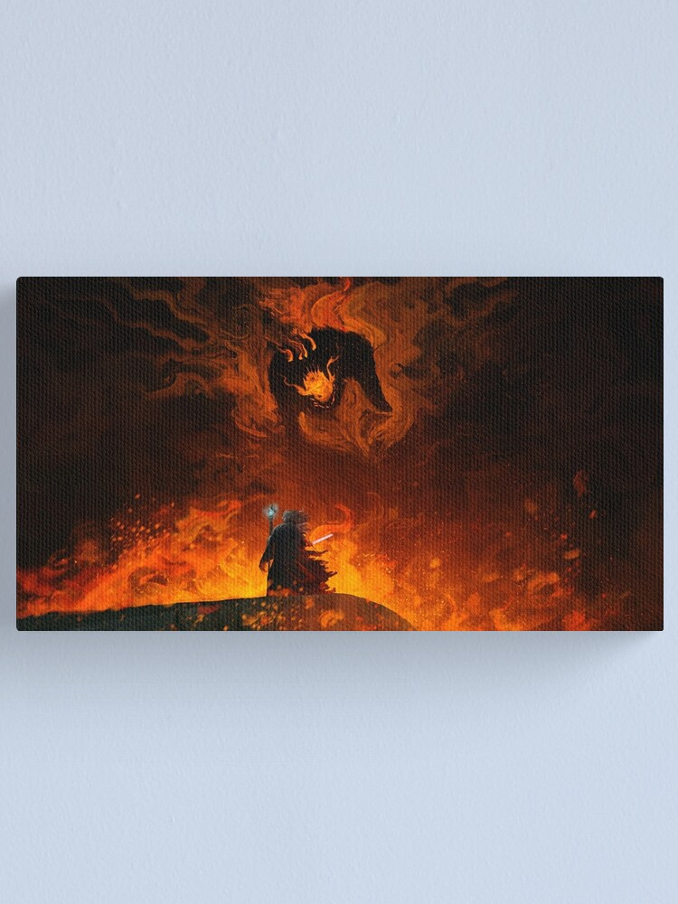 Alternate view of The Shadow and the Flame Canvas Print