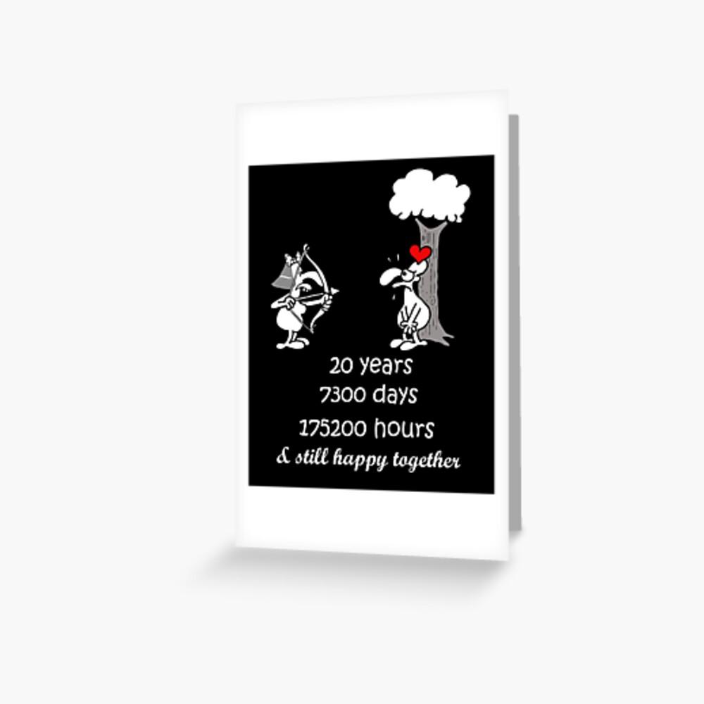 Carte De Vœux 20e Anniversaire De Mariage Cadeau Pour Lui Ses 20 Ans Ensemble 20e Annee De Mariage Anniversaire Drole Couple Correspondant Par Stella1 Redbubble