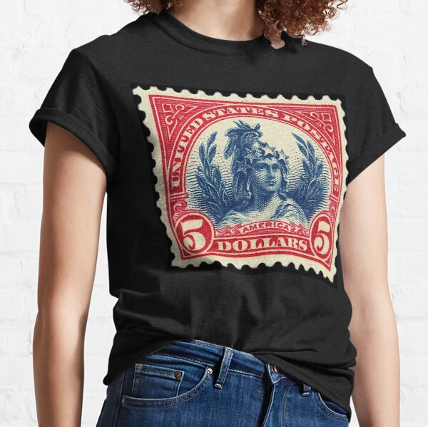 USA STAMP. 1923 Freedom. $5, blue and red. Classic T-Shirt