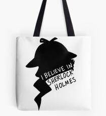 Believe in Sherlock Profile Tote Bag