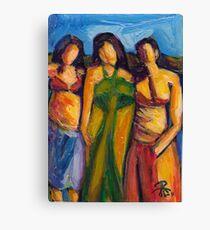 Three Women in Brazil Canvas Print