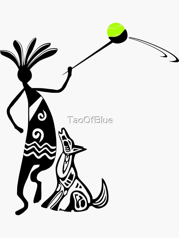 Kokopelli and Dog by TaoOfBlue