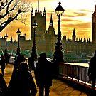 Winter Sunburst over London by andonsea