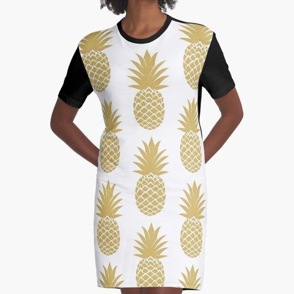 leo • theo | Golden pineapple Graphic T-Shirt Dress