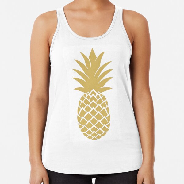 leo • theo   Golden pineapple Racerback Tank Top