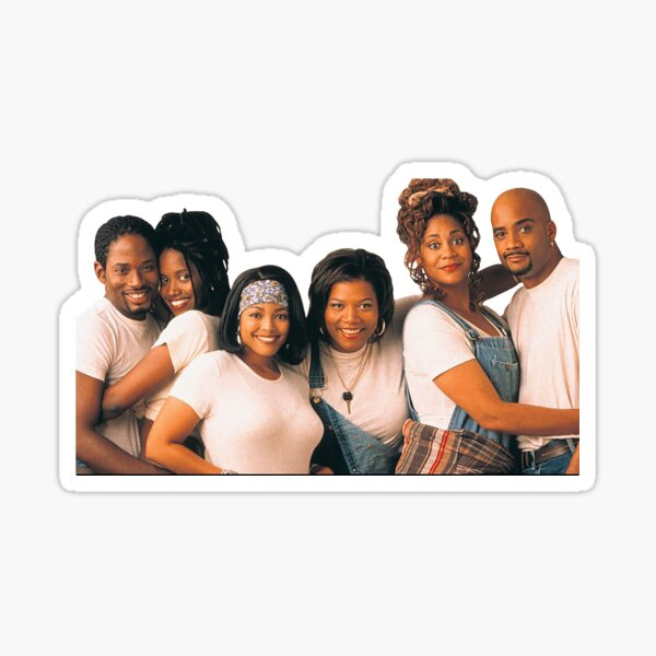 Living Single Cast Glossy Sticker