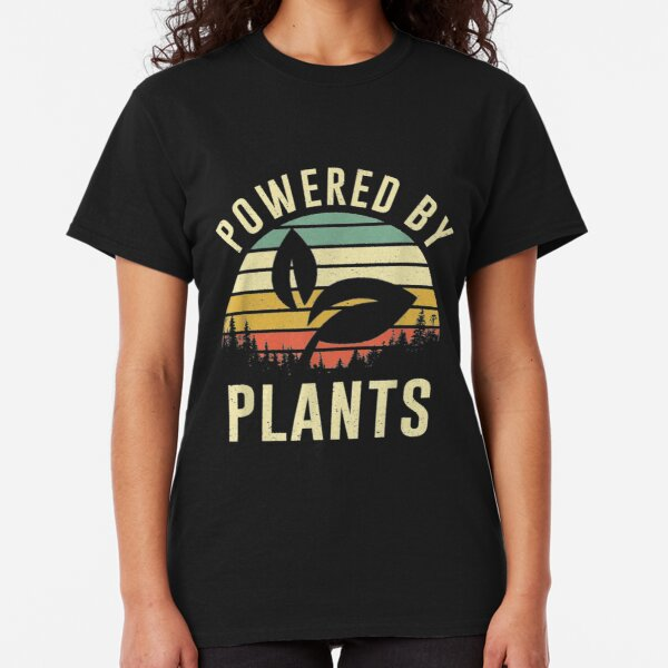 Vintage Powered By Plants Vegan Vegetarian Classic T-Shirt