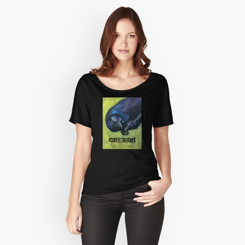 Bird with attitute telling you to back off and keep your distance Relaxed Fit T-Shirt