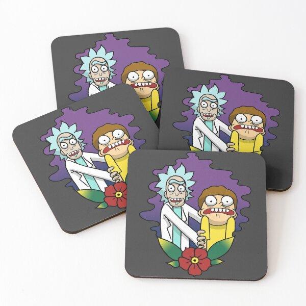 Rick n Morty Coasters (Set of 4)
