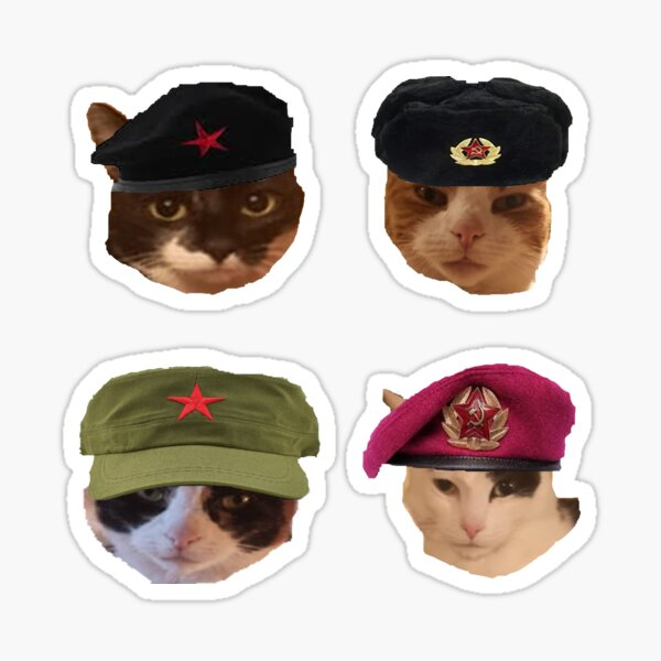Cats are Comrades pack Sticker