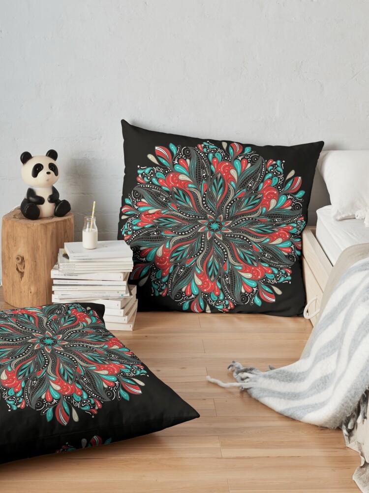 Vista alternativa de Cojines de suelo Mandala Flowers