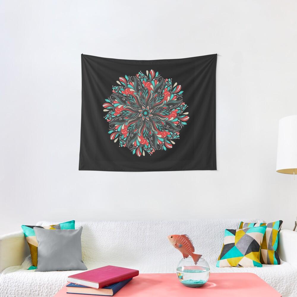 Mandala Flowers Tela decorativa