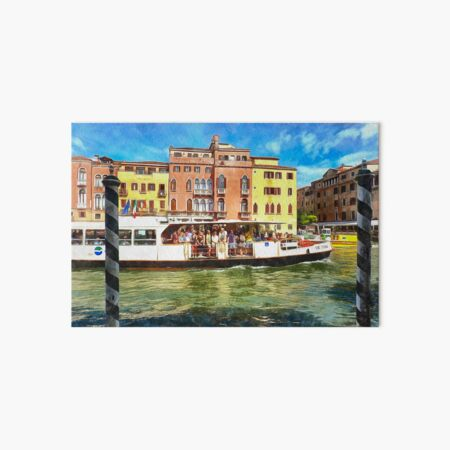 Tourism on the Canal Grande, Venice, Italy Art Board Print