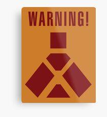 Wampa Warning - English Metal Print