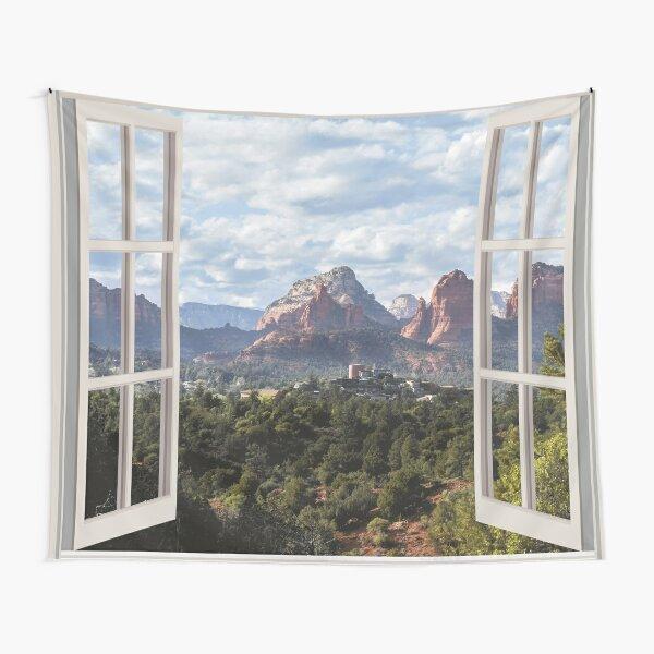 Sedona Window View Tapestry Tapestry