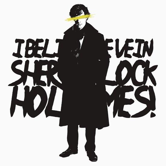 TShirtGifter presents: I BELIEVE IN SHERLOCK HOLMES