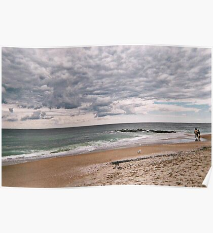 The Peaceful Beach At Ocean Grove NJ Poster