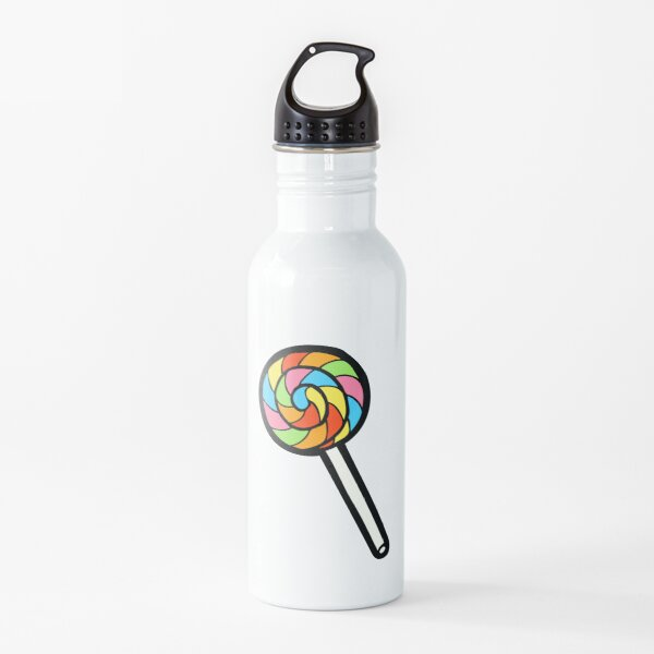 Rainbow Lollipop Pattern Water Bottle