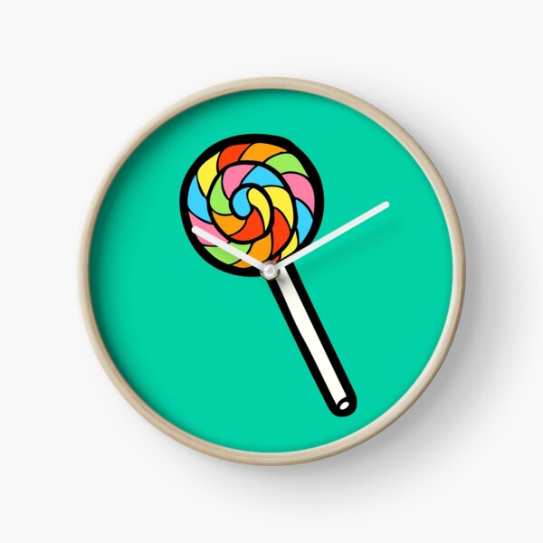 Rainbow Lollipop Pattern Clock