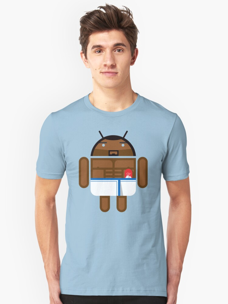 Old Spice Guy BugDroid Unisex T-Shirt Front