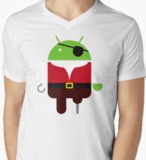 Pirate BugDroid Mens V-Neck T-Shirt