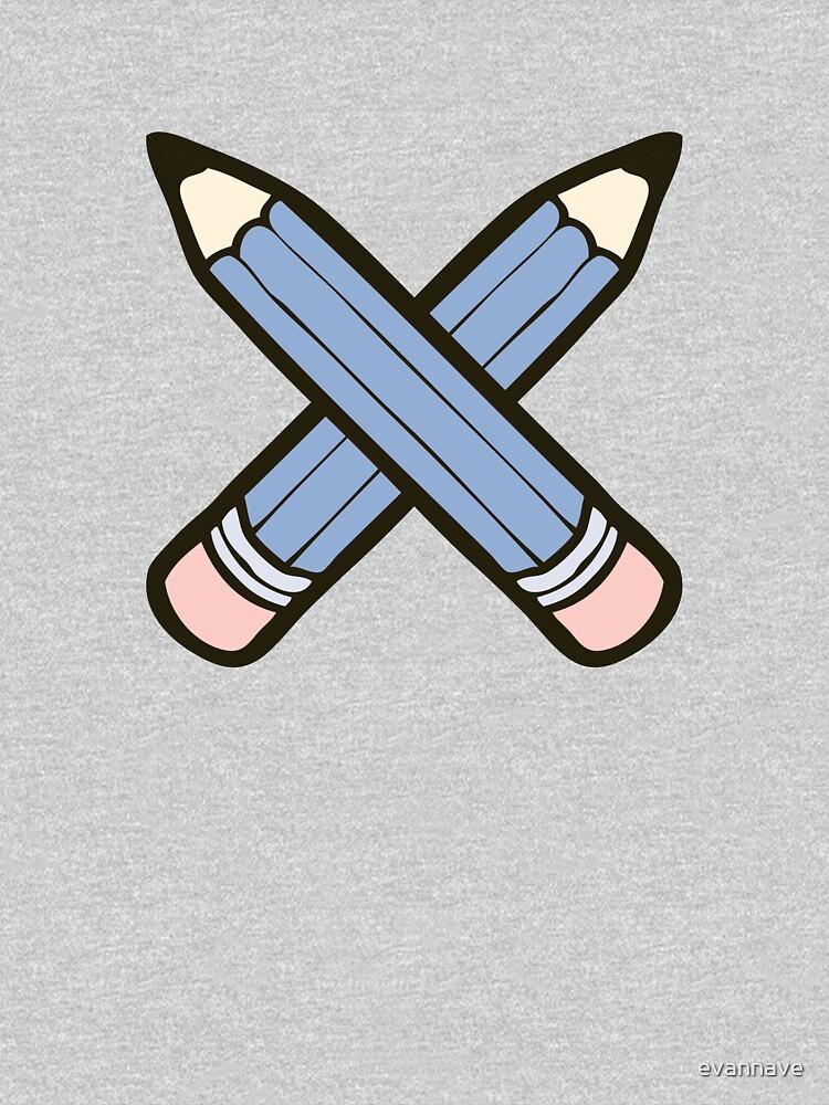Pencil Power Rose Quartz & Serenity Pattern by evannave
