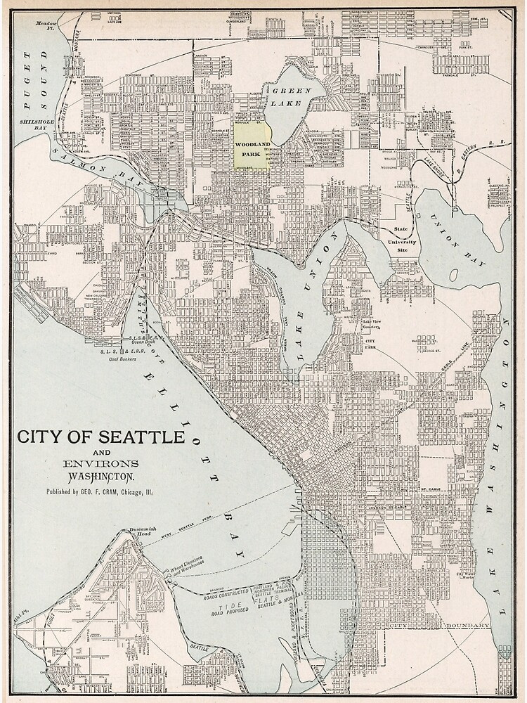 Vintage Map of Seattle Washington (1901) | Poster on tulsa oklahoma map, oregon map, austin texas map, mount rainier map, world map, seattle neighborhood map, washington state map, spanaway washington map, puget sound washington map, usa map, lynnwood washington map, united states map, downtown seattle map, st. louis map, seattle wa, georgetown seattle map, seattle city limits map, sequim washington map, city of seattle boundary map,