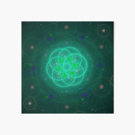 Blaugrüne Wunderblume | Fraktale Kunst Galeriedruck