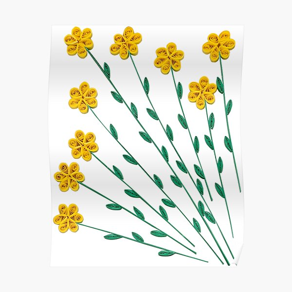 Yellow Wildflowers Poster