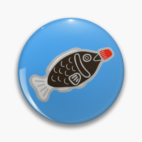 Sushi Soy Fish Pattern in Blue Pin