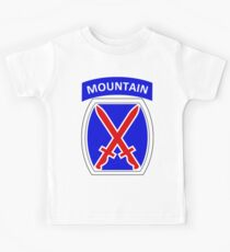10th Mountain Division Logo Kids Clothes