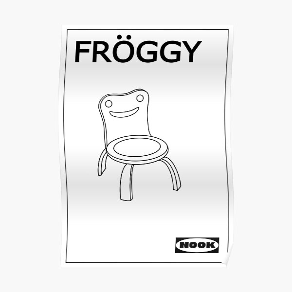 Chaise Froggy Animal Crossing Poster
