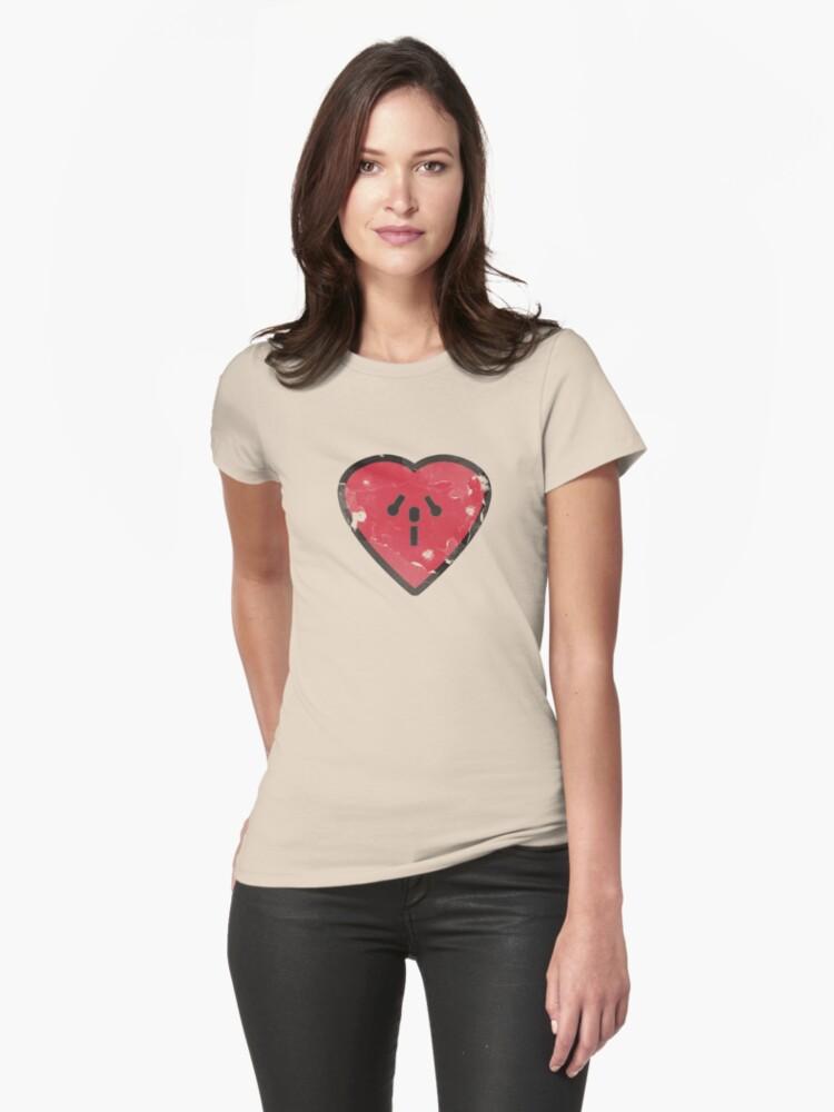 Cute Funny Heart Love Valentine Grunge T-shirt by Denis Marsili