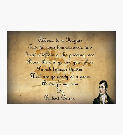 Robert Burns  Photographic Print