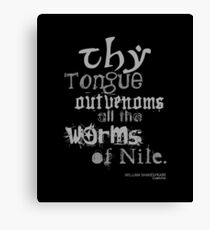 Shakespeare's Cymbeline Worms Insult Canvas Print