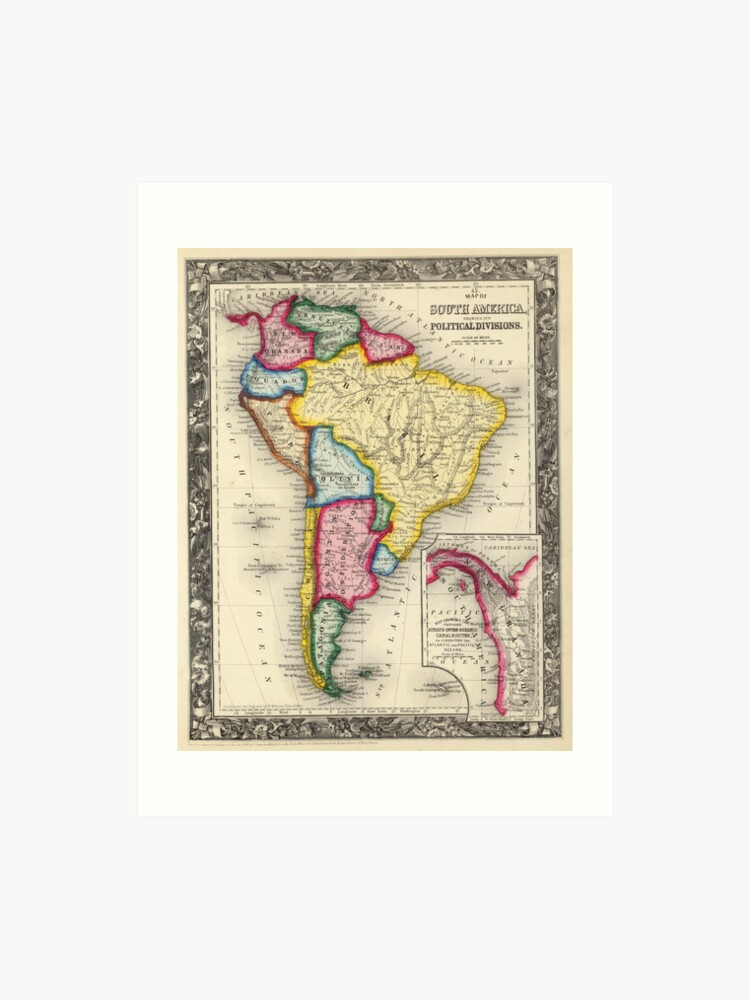 Vintage Map of South America (1860) | Art Print on map of civil war 1860, map of usa in 1860, map of religion in 1860, map of the united states 1860, map of prussia 1860, map of boston 1860, map of kansas 1860, map of chicago 1860, map of alabama 1860, map of western states in 1860, map of u.s. 1860,