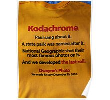 The last days  of Kodachrome  Poster