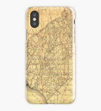 Vintage Map of The South Carolina Railroads (1900) iPhone Case