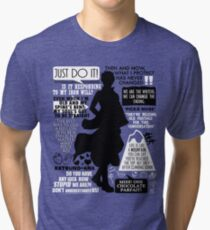 Gintama - Sakata Gintoki Quotes Tri-blend T-Shirt