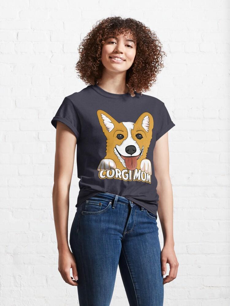 Alternate view of Corgi Mom Classic T-Shirt