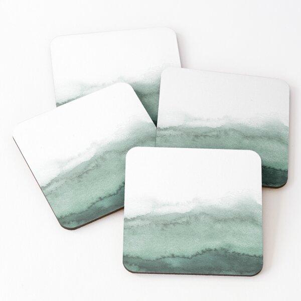 Sage Green Ink Wash #2 Coasters (Set of 4)