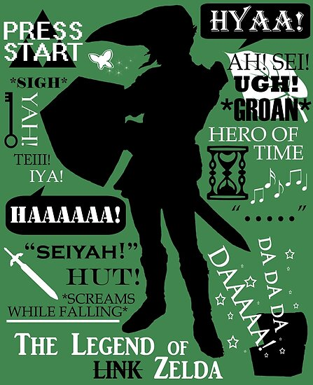 Zelda Quotes | Legend Of Zelda Link Quotes Posters By Fantality Redbubble
