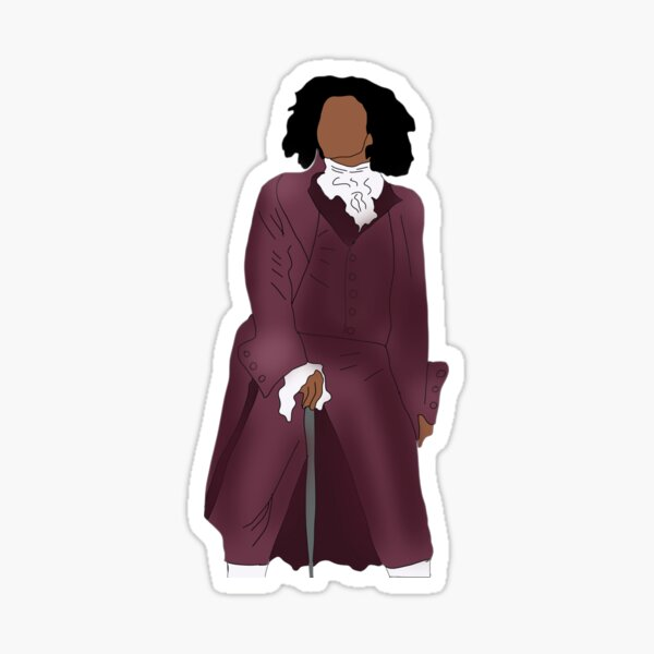Thomas Jefferson Hamilton Musical Sticker