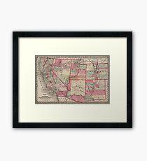 Vintage Southwestern United States Map 1869 Framed Print