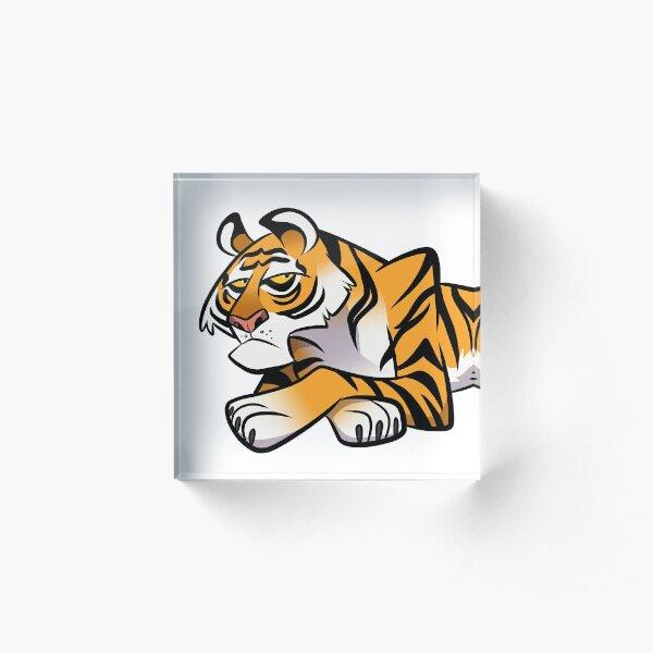 Tiger Caricature Acrylic Block